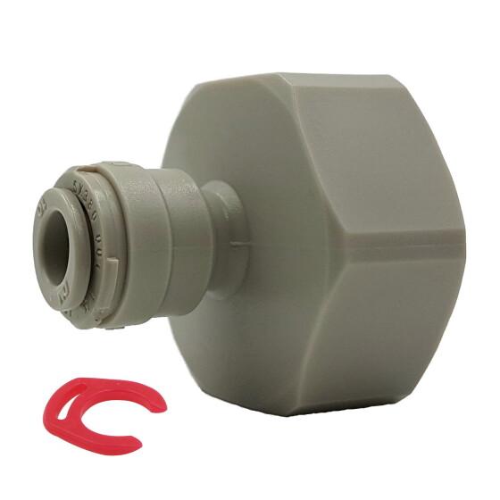 "Adapter 3/4"" Hahnanschluss auf 1/4"" (6mm) Wasserschlauch Steckanschluss"