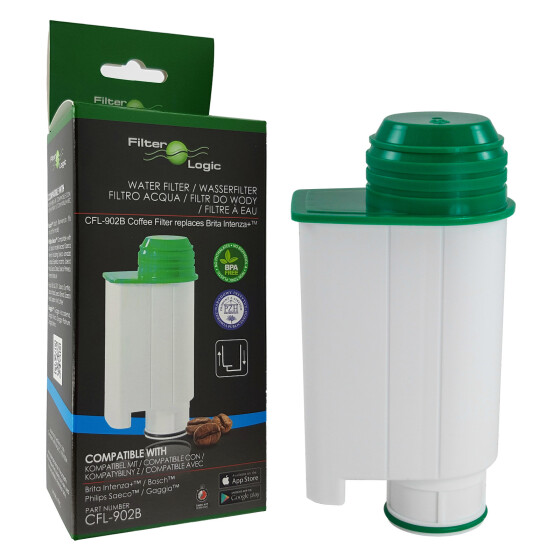 FilterLogic CFL-902B Wasserfilter für Philips ersetzt Brita Intenza+ CA6702/10