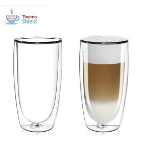 FilterLogic CFL-670B - 2er Set Latte Macchiato Caffè Latte Gläser
