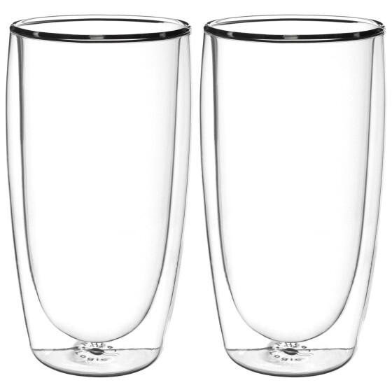 FilterLogic CFL-670B - 2er Set doppelwandige Gläser für Heiß- und Kaltgetränke