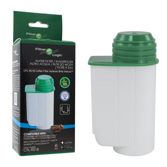 FilterLogic CFL-901B Wasserfilter für WIK CAM 57 / 9757-Serie Kaffeevollautomaten ersetzt Brita Intenza