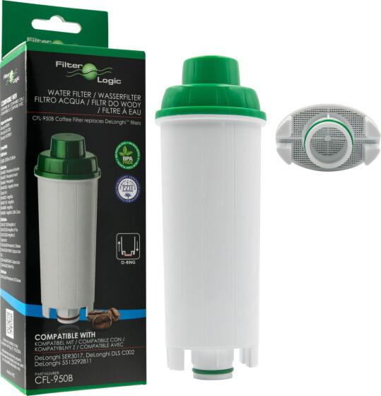 FilterLogic CFL-950B Wasserfilter DeLonghi kompatibel zu DLS C002 / 5513292811 / SER3017